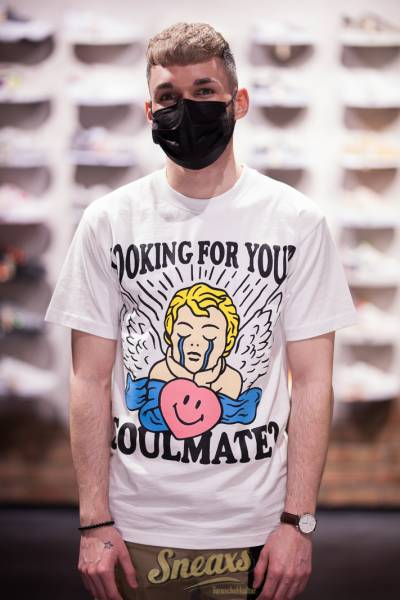 CHINATOWN MARKET SMILEY FORTUNE BALL SOUL MATE TEE (CTM1990410-1201)